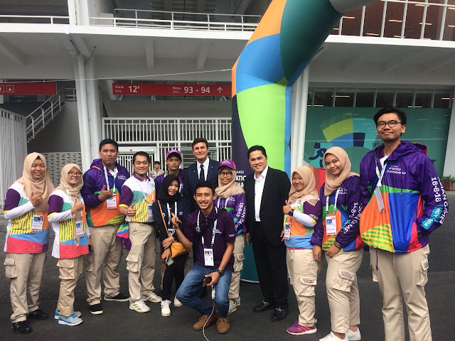 Erick tohir volunteer asian games 2018