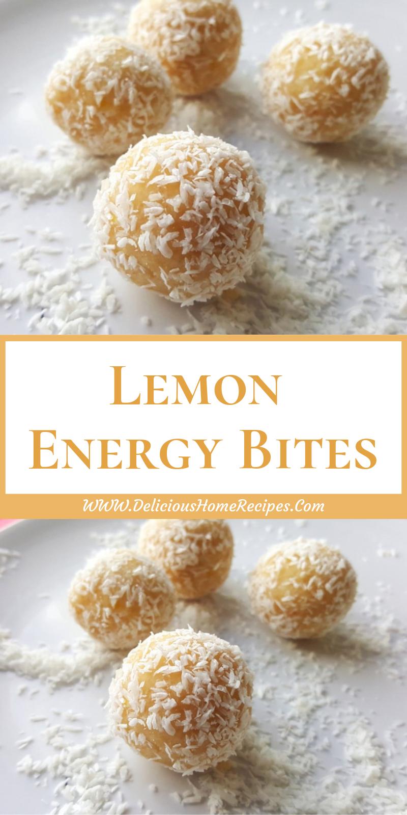 Lemon    Energy Bites