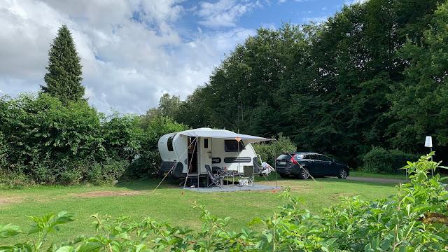 Camping på Holmens Camping i Ry