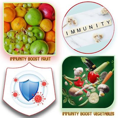 इम्यूनिटी बढ़ाने वाले फल और सब्जियों के नाम | Names of fruits and vegetables that increase immunity in hindi