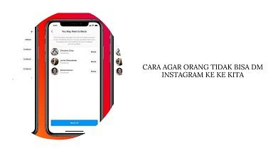 Cara Agar Orang Tidak Bisa DM Kita di Instagram