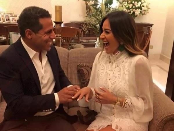 حفل زفاف الفنانة أمينة خليل بعد تعافيها من فيروس كورونا على رجل الأعمال عمر طه