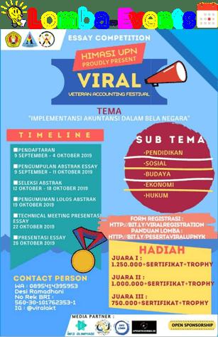 Lomba Akuntansi Veteran Accounting Festival (Viral) 2019 SMA Sederajat Se-Yogya