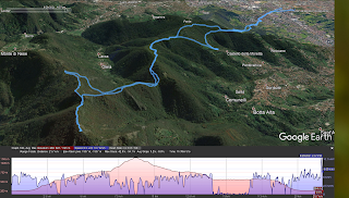 Canto Alto Canto Basso hike with elevation and speed metrics