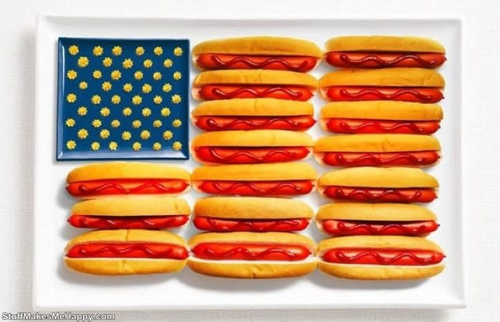13. America - hot dogs, ketchup, mustard or cheese