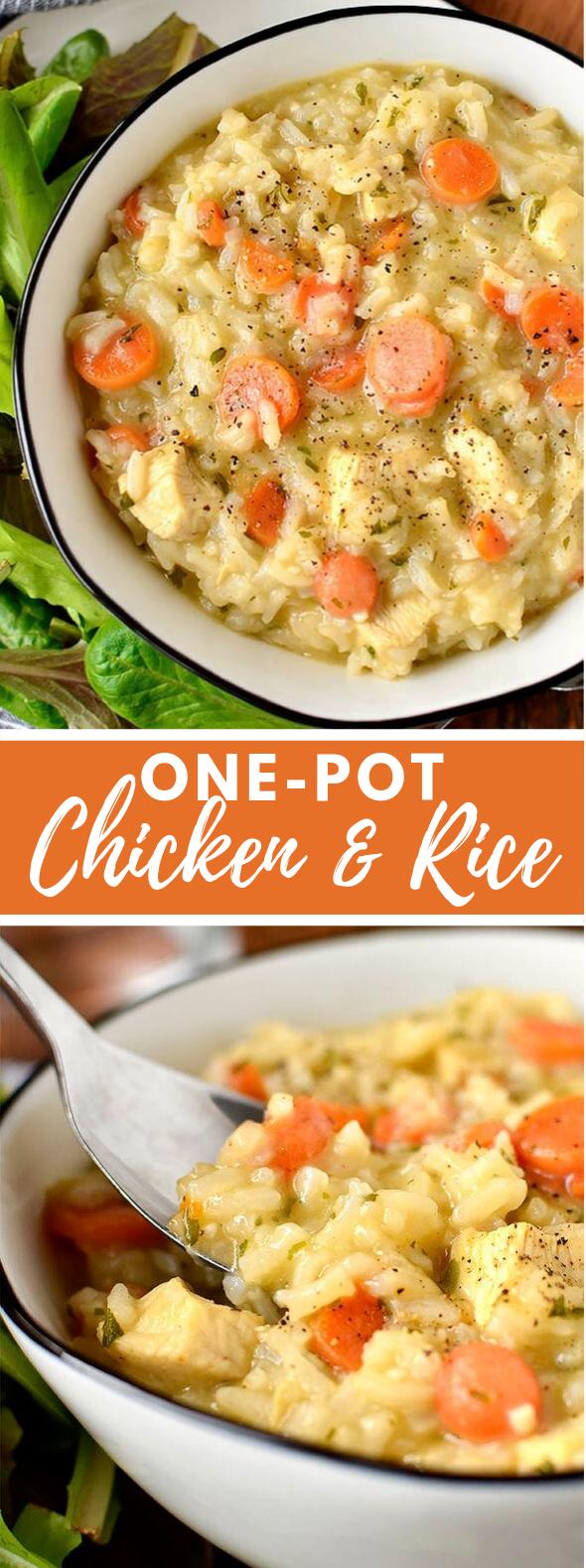 One-Pot Chicken and Rice #dinner #glutenfree