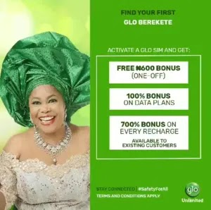 How To Get 5GB Glo Free Data And 700% Airtime Bonus