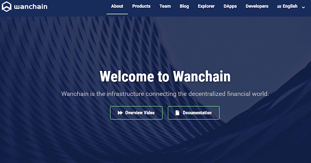 Screenshot Website WanChain (WAN)