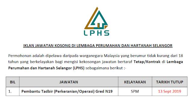 jawatan kosong lphs