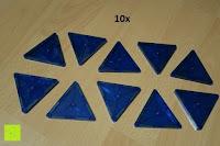 Dreieck blau: Playbees 100 Teile Magnetische Bausteine Set für 2D und 3D Form Konstruktionen, Regenbogenfarben Magnetspielzeug, Baukasten Magnetspiel, Magnetbausteine