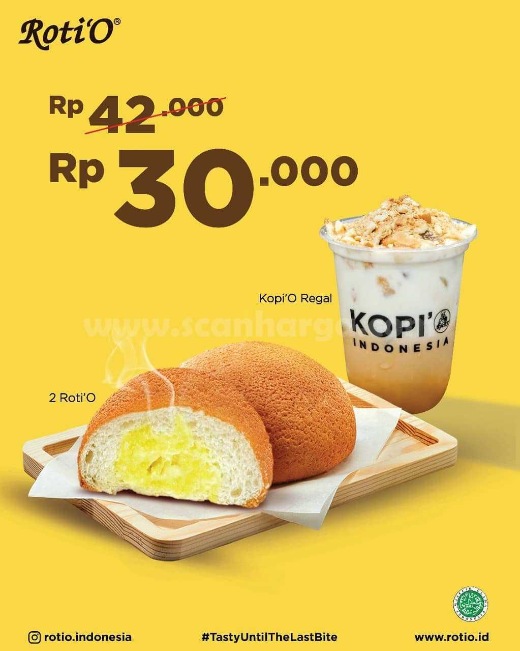 Promo RotiO Terbaru - Beli 2 Roti'O + Kopi Roti'O Regal hanya Rp 30.000