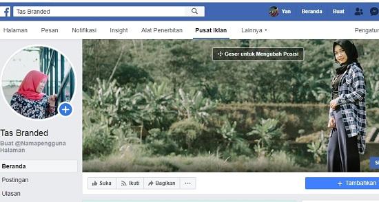 Tambahkan foto sampul untuk membuat halaman di facebook 2