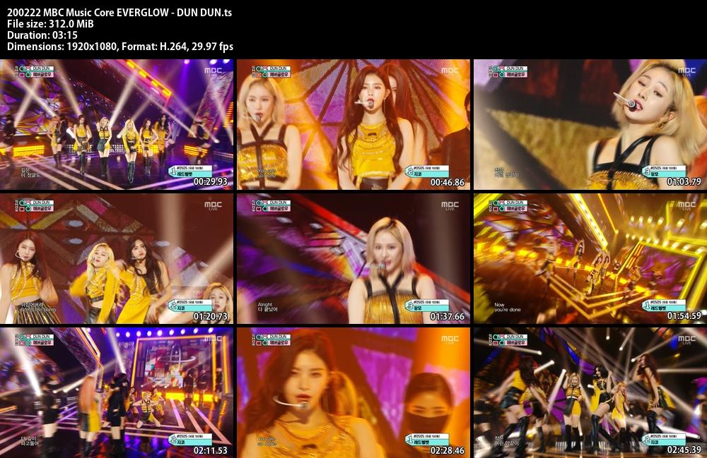 Music Core , EVERGLOW , DUN DUN , 1080p , Kpop, 2020