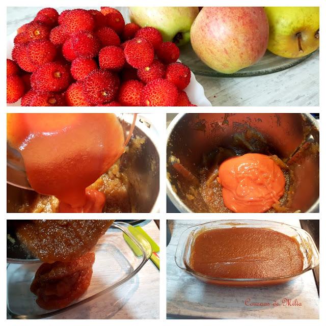 Membrillo de manzanas y madroños
