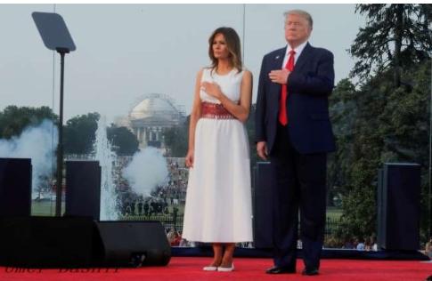 Trump Marks July 4 Pledge To Defeat 'Radical Left'