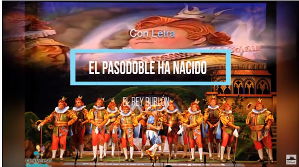 """🎭Pasodoble con Letra📝 """"El pasodoble ha nacido"""". Comparsa """"El Rey Burlón""""🤡"""