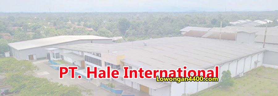 Lowongan Kerja PT. Hale International (Kalbe Beverage) Terbaru