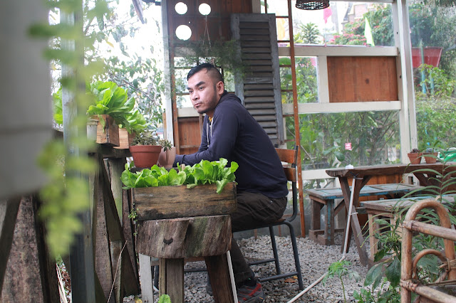 Marky Ramone Go contemplates life inside a random cafe in Da Lat Vietnam