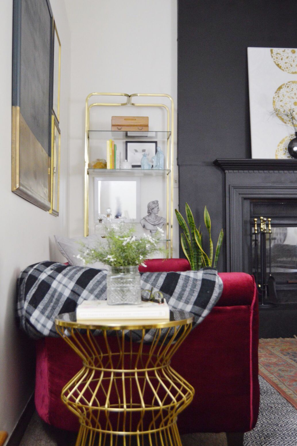one room challenge mid century modern eclectic vintage bohemian interior design