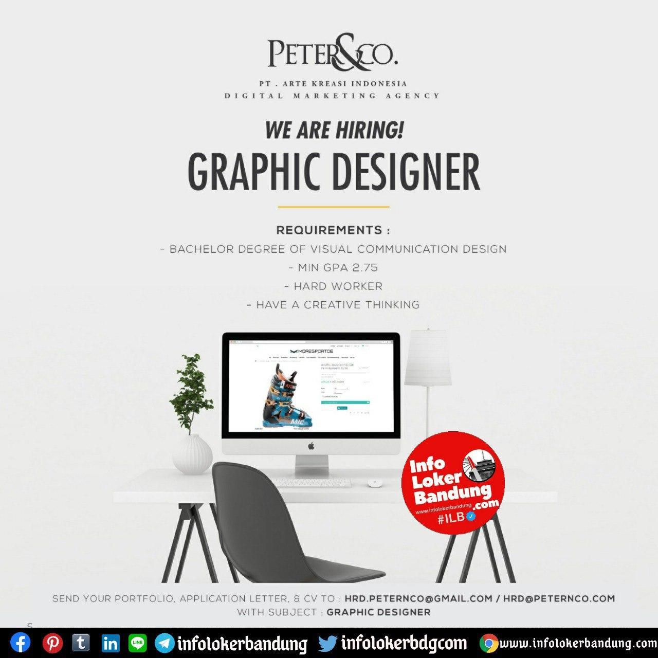 Lowongan Kerja Graphic Designer PT. Arte Kreasi Indonesia (Peter&Co) Bandung Juli 2020