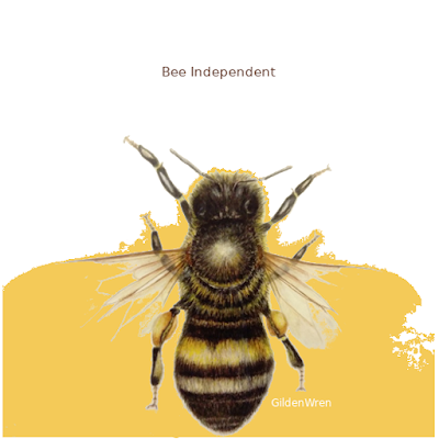 Bees bring colour to the world.Bee Independent. Be GildenWren.