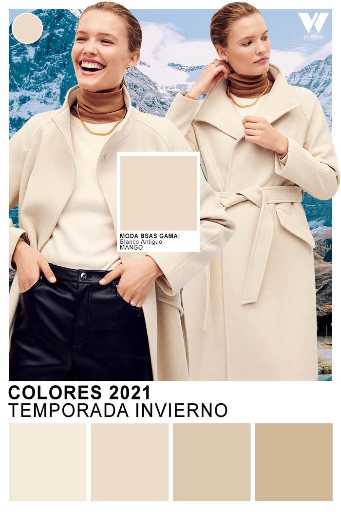 Arena y beige color de moda otoño invierno 2021