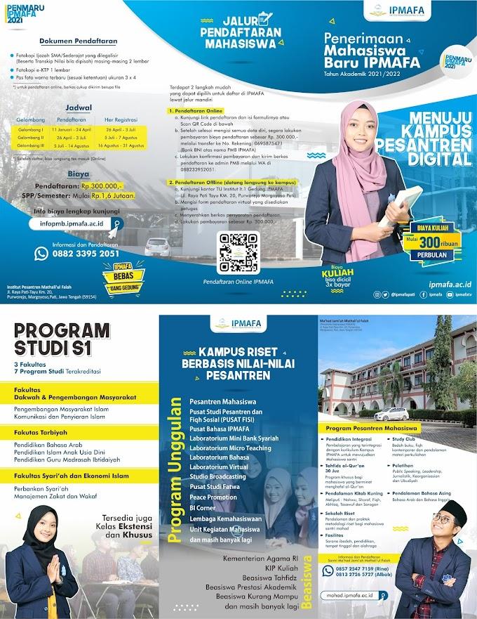Brosur IPMAFA Tahun Akademik 2021/2022