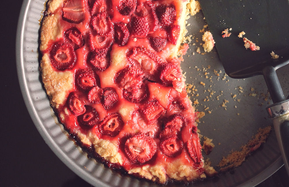 God enkel bärkaka/jordgubbskaka