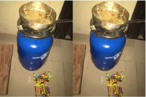 """""""Buhari is not the Problem"""" -Lady cries out after her food was stolen while she was cooking in the hostel"""