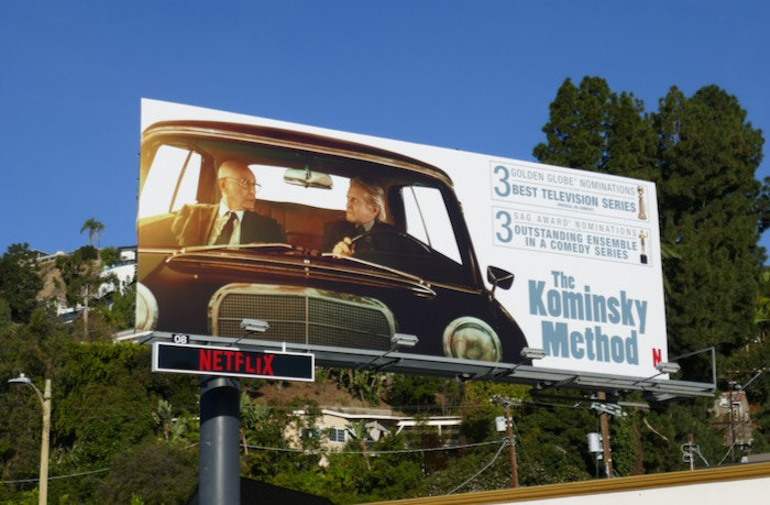 Kominsky Method season 2 Golden Globes nominee billboard