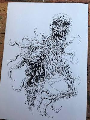 monster demon ink concept sketch