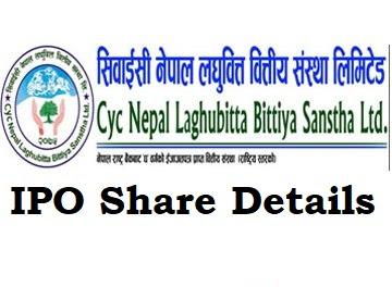 CYC Nepal Laghubitta IPO Share