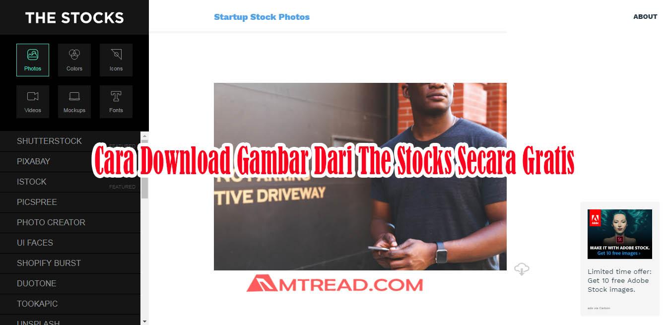 Cara Download Gambar Dari The Stocks