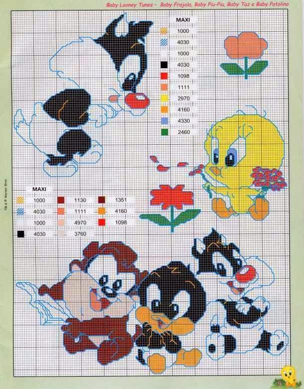 Punto de Cruz Looney Tunes - Revistas de manualidades Gratis