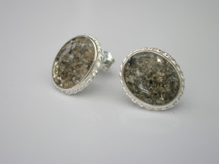 Sterling silver ear-studs for ashes