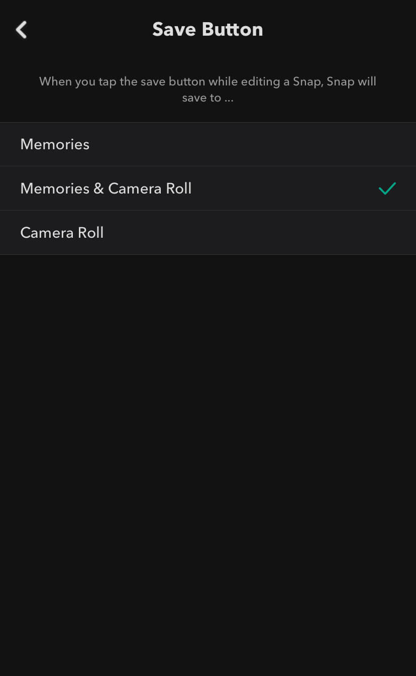 Save Snapchat photos to gallery or camera roll
