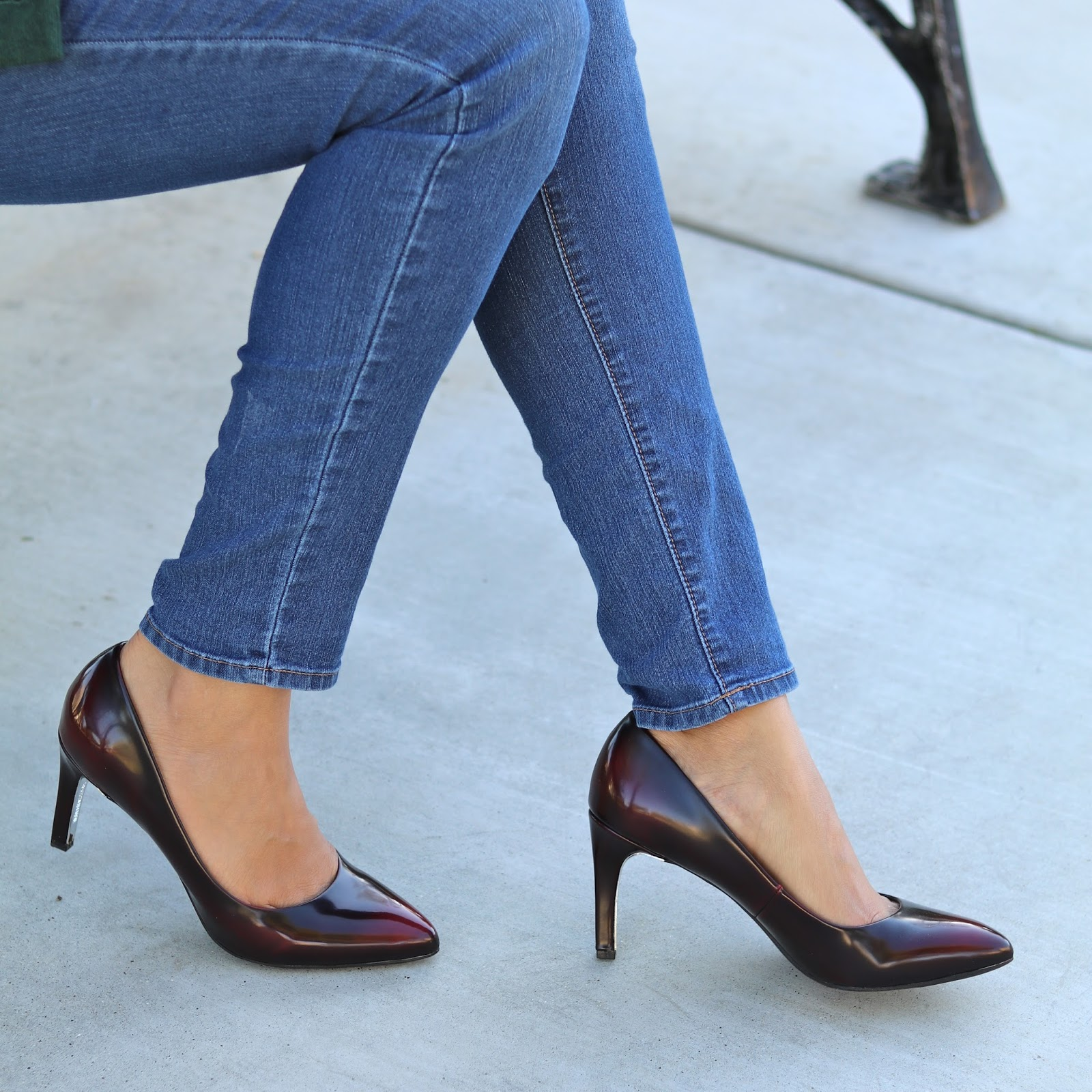 LS Revolution Catwalk Pump, Burgundy pumps, comfortable pumps