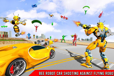 BEE ROBOT CAR TRANSFORMATION (MOD, FREEZE ENEMY) APK DOWNLOAD