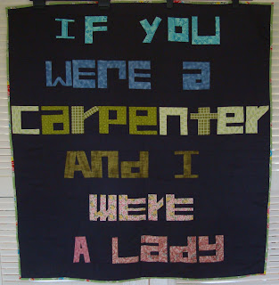 Johnny Cash If I were a Carpenter quilt