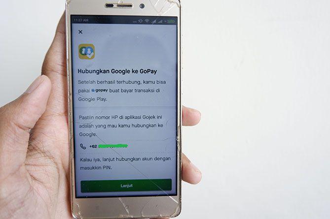Hubungkan Google Play ke Gopay