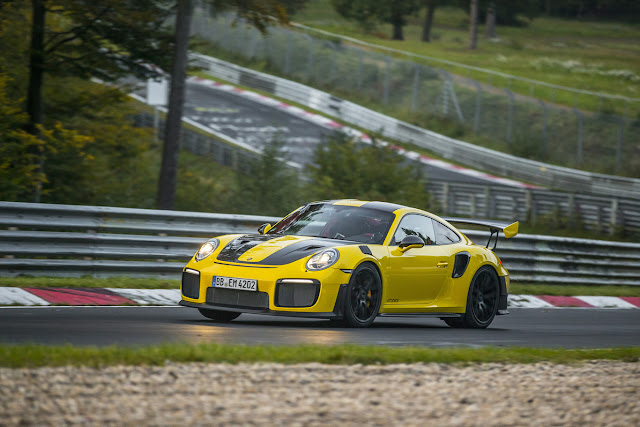 The Porsche 911 GT2 RS already has its record in Nürburgring 6 minutes and 47 seconds