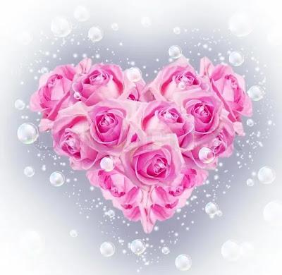 صور ورد وقلوب على شكل قلب جميل جدا