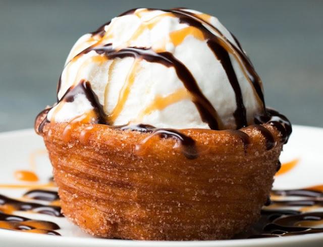 Churro Ice Cream Cups #dessert #easyrecipe