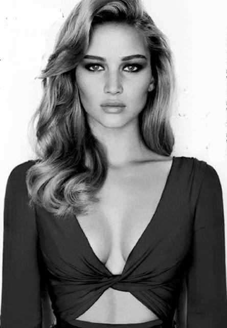 Jennifer Lawrence black and white