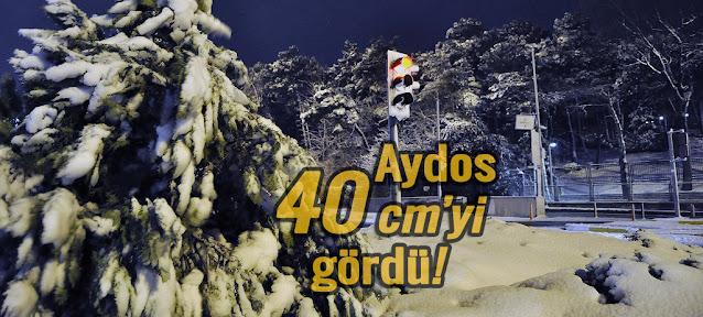 Sancaktepe'nin yüksek kesimlerinde kar kalınlığı 40 cm'yi geçti!