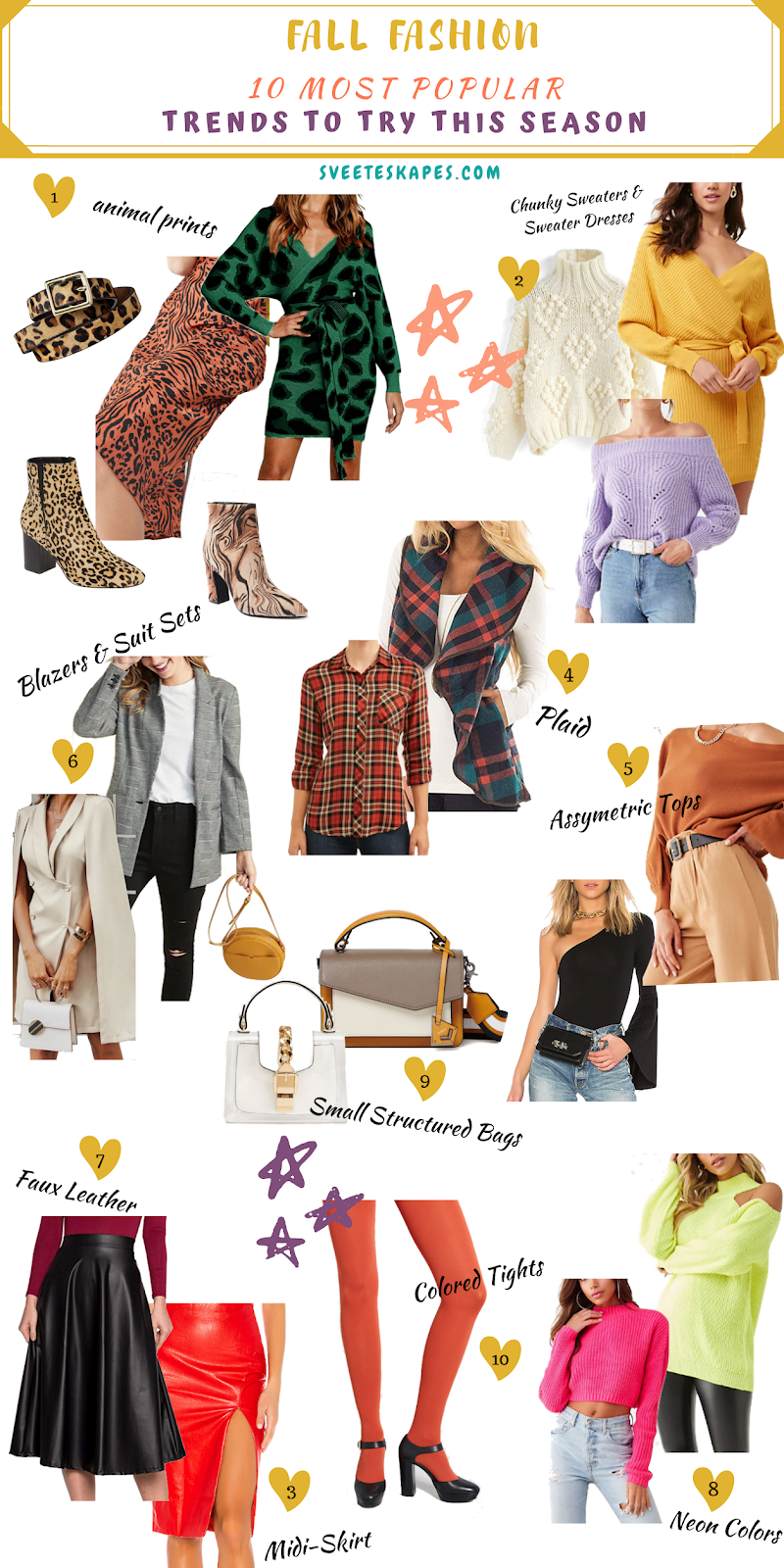 Most Popular Fall Fashion Trends featured by top US life and style blog, Sveeteskapes