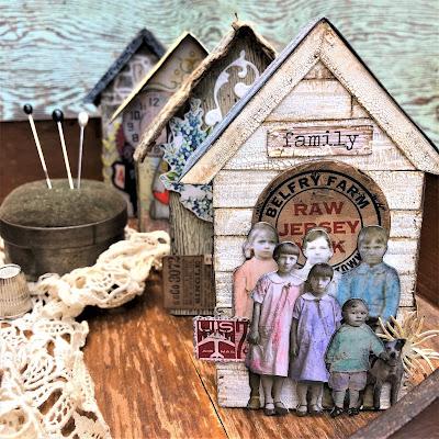 Sara Emily Barker https://sarascloset1.blogspot.com/2019/06/memories-of-home-for-frilly-and-funkie.html Memories of Home Tim Holtz Tiny Houses 1