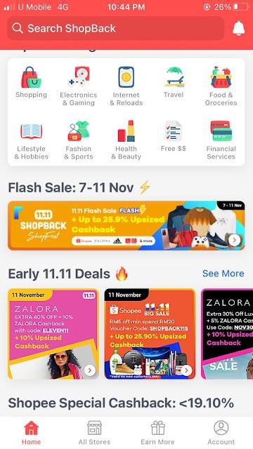 Cashback Shopee sales 11.11
