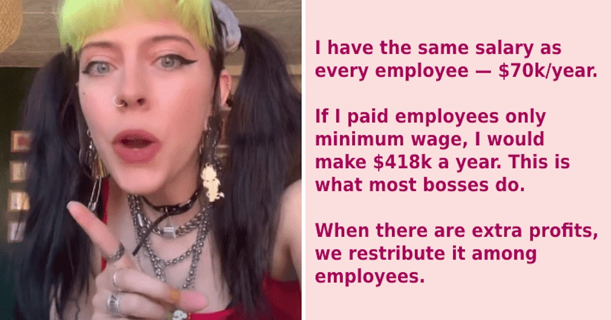 Young Business Owner Shares All Her Profit With Employees And Teaches 'A Lesson In Labour Exploitation'