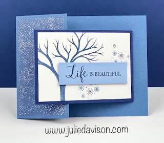 Stampin' Up! Life is Beautiful Winter Double Flap Card ~ Aug-Dec 2020 Mini Catalog ~ www.juliedavison.com #stampinup